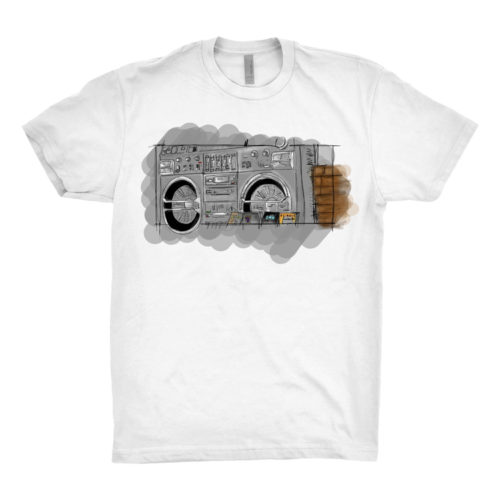 "Boom Box T-Shirt – ""The System"""